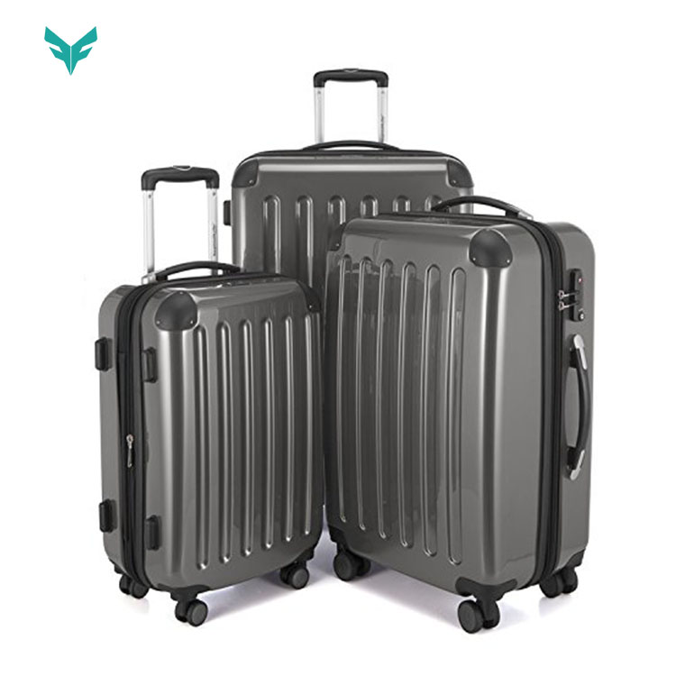 New Fashion 24 Inch <strong>ABS</strong> And Polycarbonate Suitcase Sets Hardside Spinner Luggage Cases For Women Girl Men