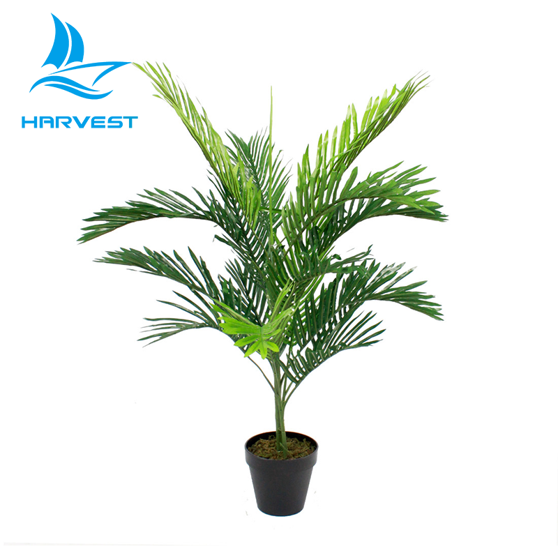 Near Natural Indoor Outdoor Small Plastic Artificial Palm Tree Plants