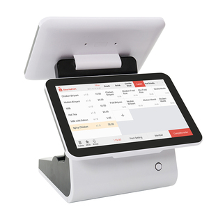 Cashcow 12'' dual screen pos with free software android pos