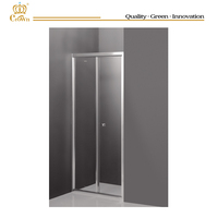 Chrome aluminum shower door folding shower screen