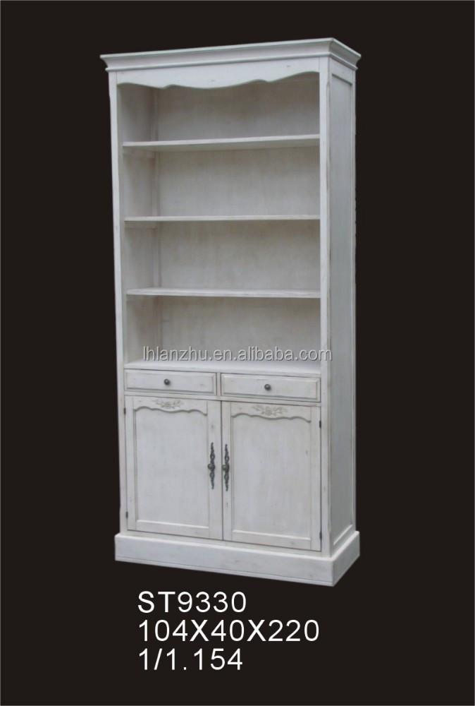 White Rococo Bookcase Furniture