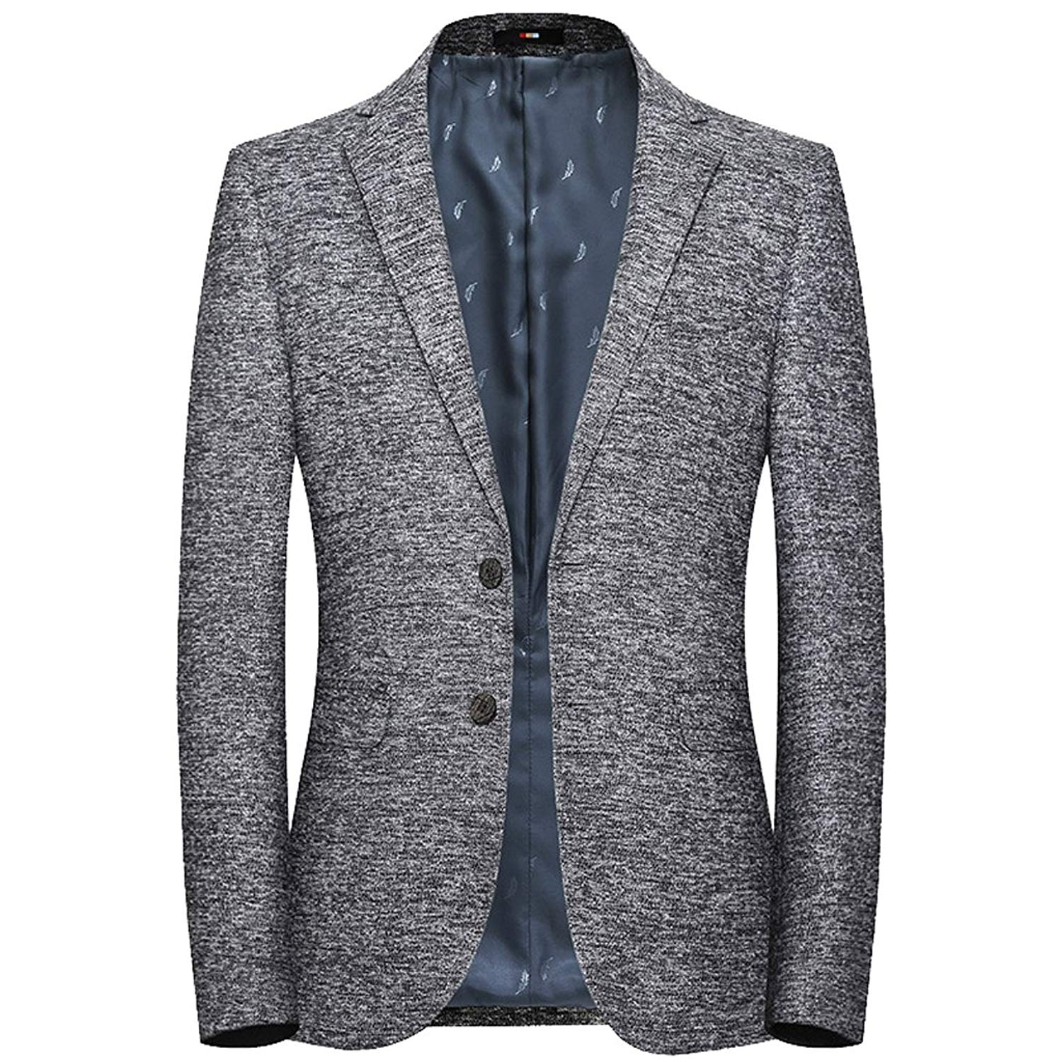 WSPLYSPJY Mens Blazer Slim Fit Casual One Button Solid Coat Separate Jacket