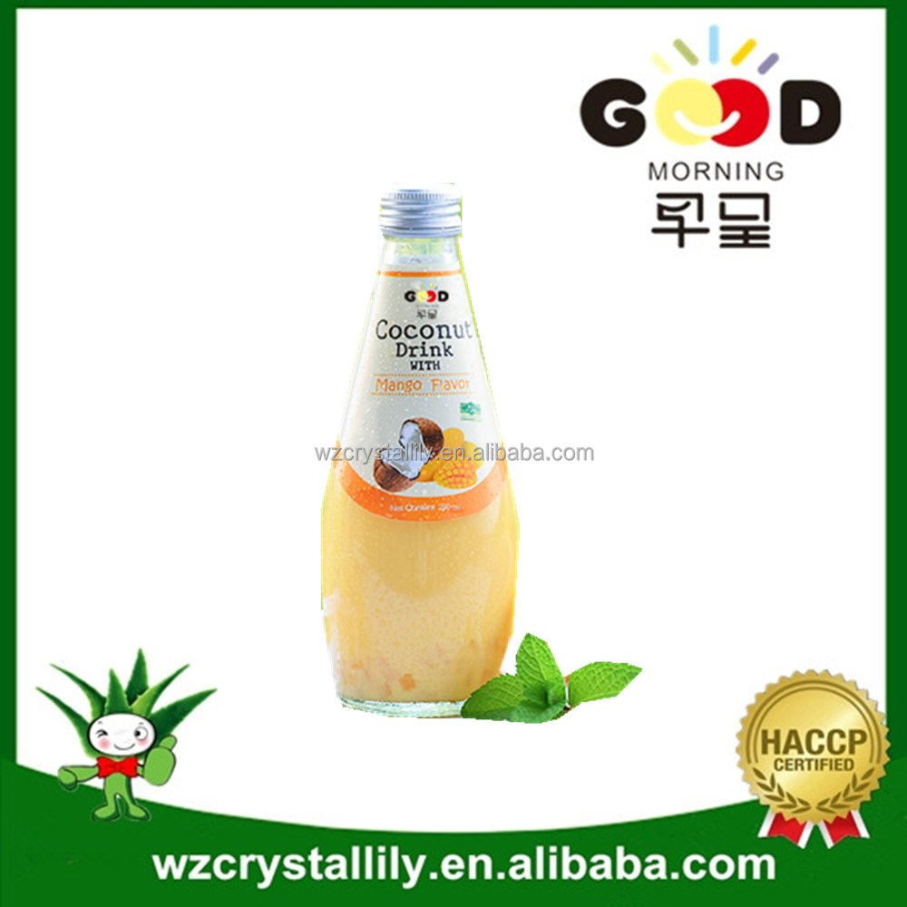 Coconut water with mango juice