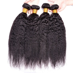 Wholesale kinky straight brazilian virgin hair , kinky straight yaki hair weave , kinky straight remy hair ponytail