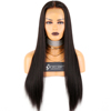 Fast shipping 100 Brazilian virgin yaki straight human hair wig for black women full lace wigs high density with baby hair