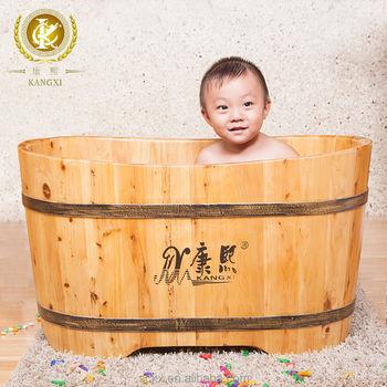 Kids Wooden Bath Tub/baby Bath Tub With Stand Kid Wash Tub - Buy ...