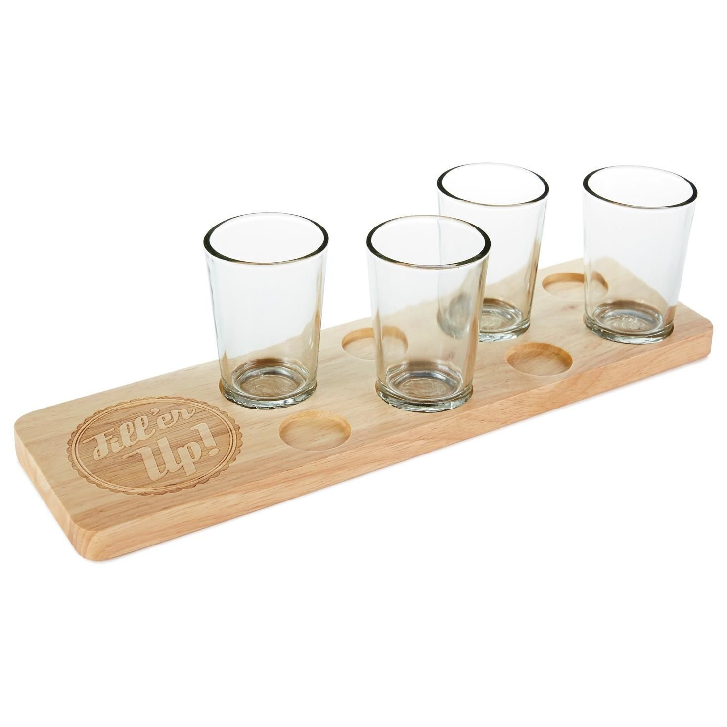 bamboo wine flight holders wood serving tray for party