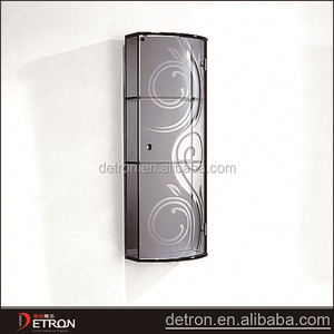 Wall glass india style bathroom cabinet