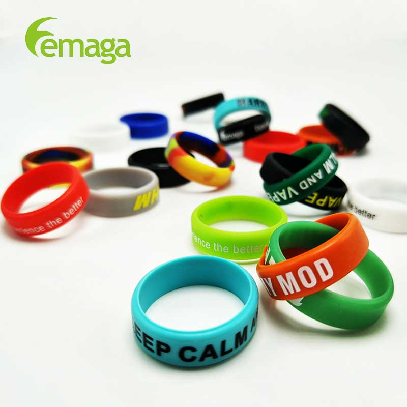 LEMAGA VAPE BAND Custom Logo customized different colors silicon made vape band customised custom vapor bands