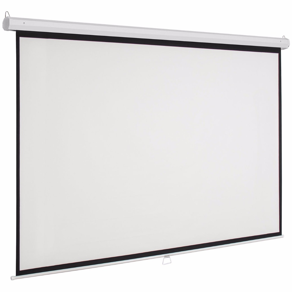 CE/ROHS/FCC Approved Cheap price 84 inch 1:1 4:3 16:9 manual projector screen-20 years experience