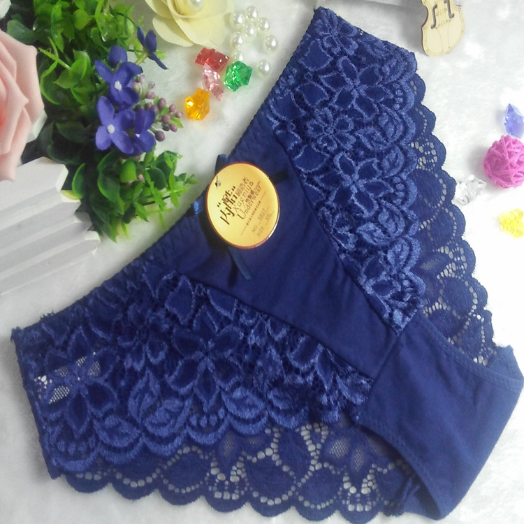 Best selling hipster new blue China cotton sexy undergarment plus size panty 3xl 5827