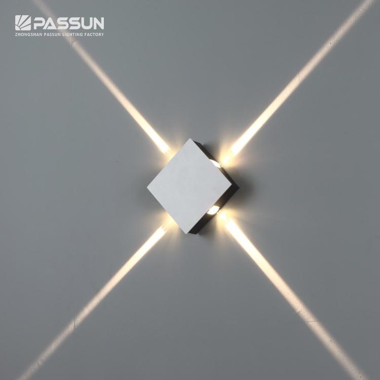 4 Вт светодиодный настенный светильник декоративный свет квадратный для украшения дома