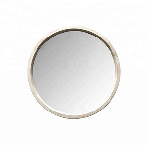 Stylish Home Decor Round Wood Frame Hinged Mirror Wall Mounted