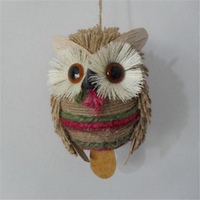2018 new fashion hot hand artificial decoration ornaments gifts wholesale Christmas owl pendant made in China