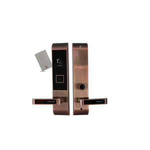 High Quality Zinc Alloy Hotel Card Door Lock with MF Card T5577 Card