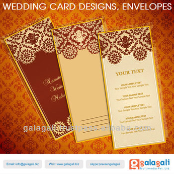 Decorative Designer Wedding Envelopes