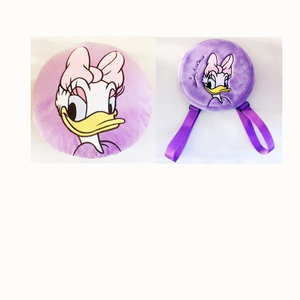girl gift sets plush stuffed toys lovely Daisy Duck cushion and backpack