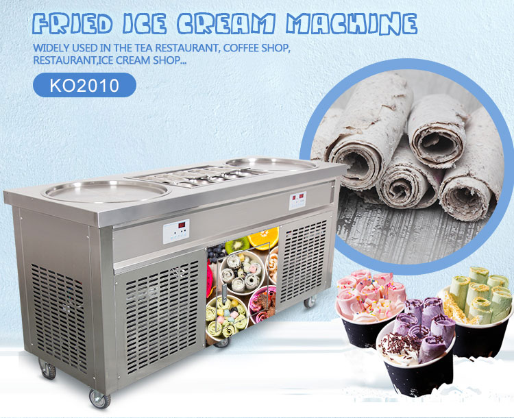 Free shipping Professional Instant Ice Cream Rolls Machine 220V/ 110V