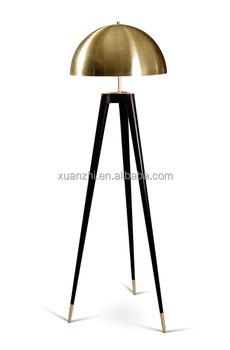 0623-1 Copper Black Tripod Floor Lamp Mushroom Floor Lamp - Buy ...