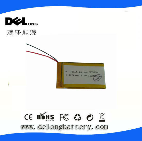 3.7V 1200mAh Polymer Li-ion Battery 503759