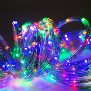Billboard decoration led battery operated rainbow tube rope lights