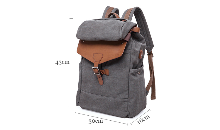 2019 New custom logo men rucksack school laptop canvas bag casual backpack with usb charging