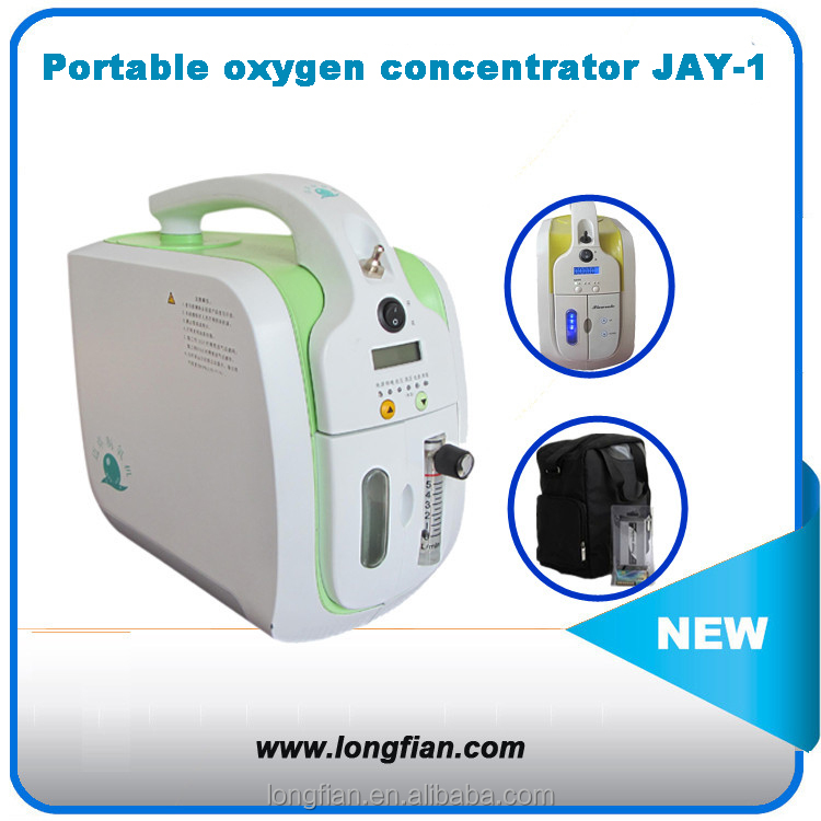 Home and travel Mini portable oxygen concentrator with rechargeable battery and car charger