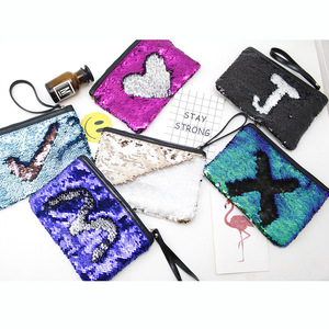 Custom Zipper Flat Cosmetic Bag Shiny Kit Makeup Pouch