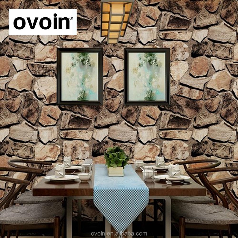 3d effet pierre roche papier peint vinyle roche roulement textur mur papier pour salon la - Papier peint effet pierre 3d ...