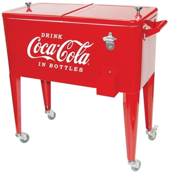 Large Coolers With Wheels, Cart With Wheels Rolling Cooler, Car Rolling  Outdoor Patio Deck
