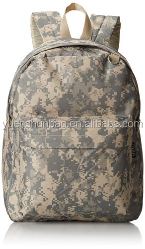 600D polyester Military Army Backpack Camouflage padded shoulder strap (Free sample )