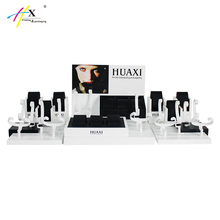 HUAXIN professionele ontwerp <span class=keywords><strong>acryl</strong></span> horloge display sets verticale MDF horloge display stand