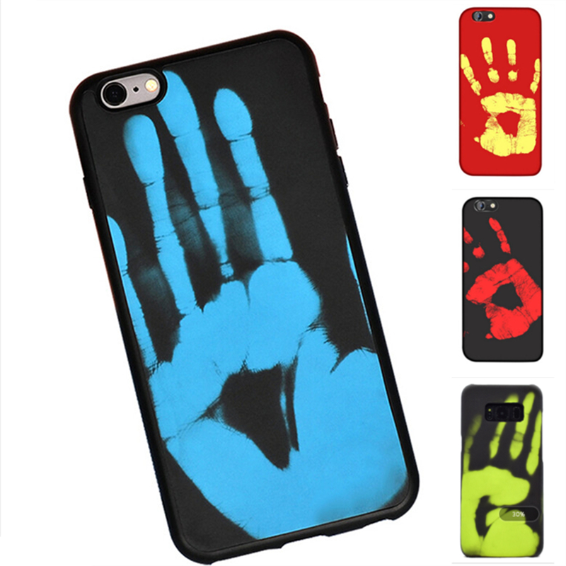 2018 new arrivals thermal sensor color changing soft TPU mobile phone case for iPhone 6s 7 8 Plus X