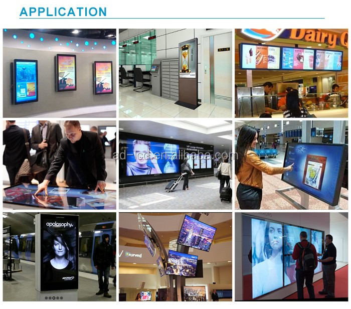 55 inch DID LED 4K seamless wall mounted video display with  LG narrow bezel LCD video wall