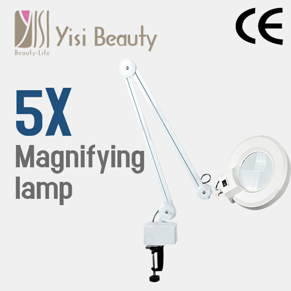 5X magnifier with led light salon equipment facial magnifying lamp magnifier lamp model WITH CE