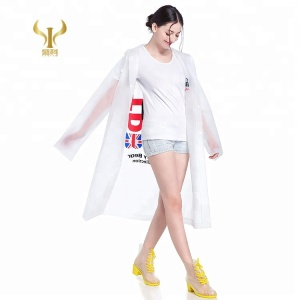 Promotional Logo Printed EVA Raincoats For Adults, A Raincoat Printing With Hood