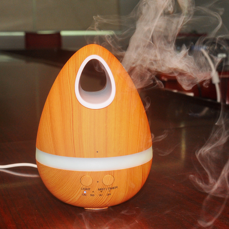 Free sample promotional items 200ml light wooden aromatherapy diffuser