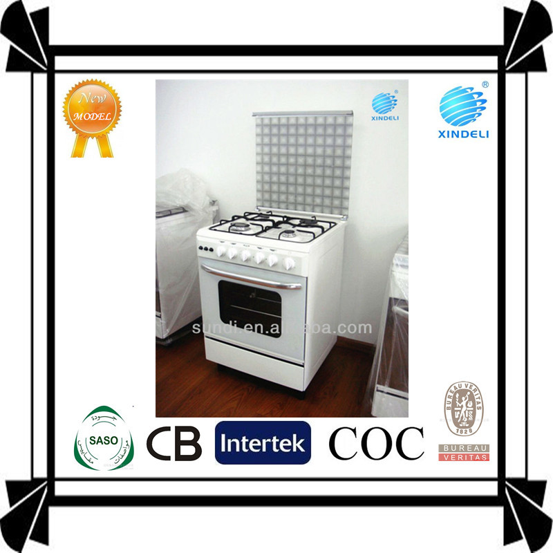 New style domestic 4 burner cooker with oven 24inch 600mmx600mm used electric range for kitchen appliance