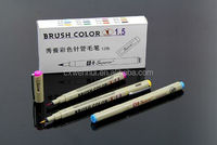 high quality Superior brush color pen with 1.5 fine lines