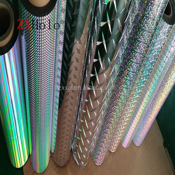 Hot sell PET & BOPP holographic metallized and transparent lamination film for paper board
