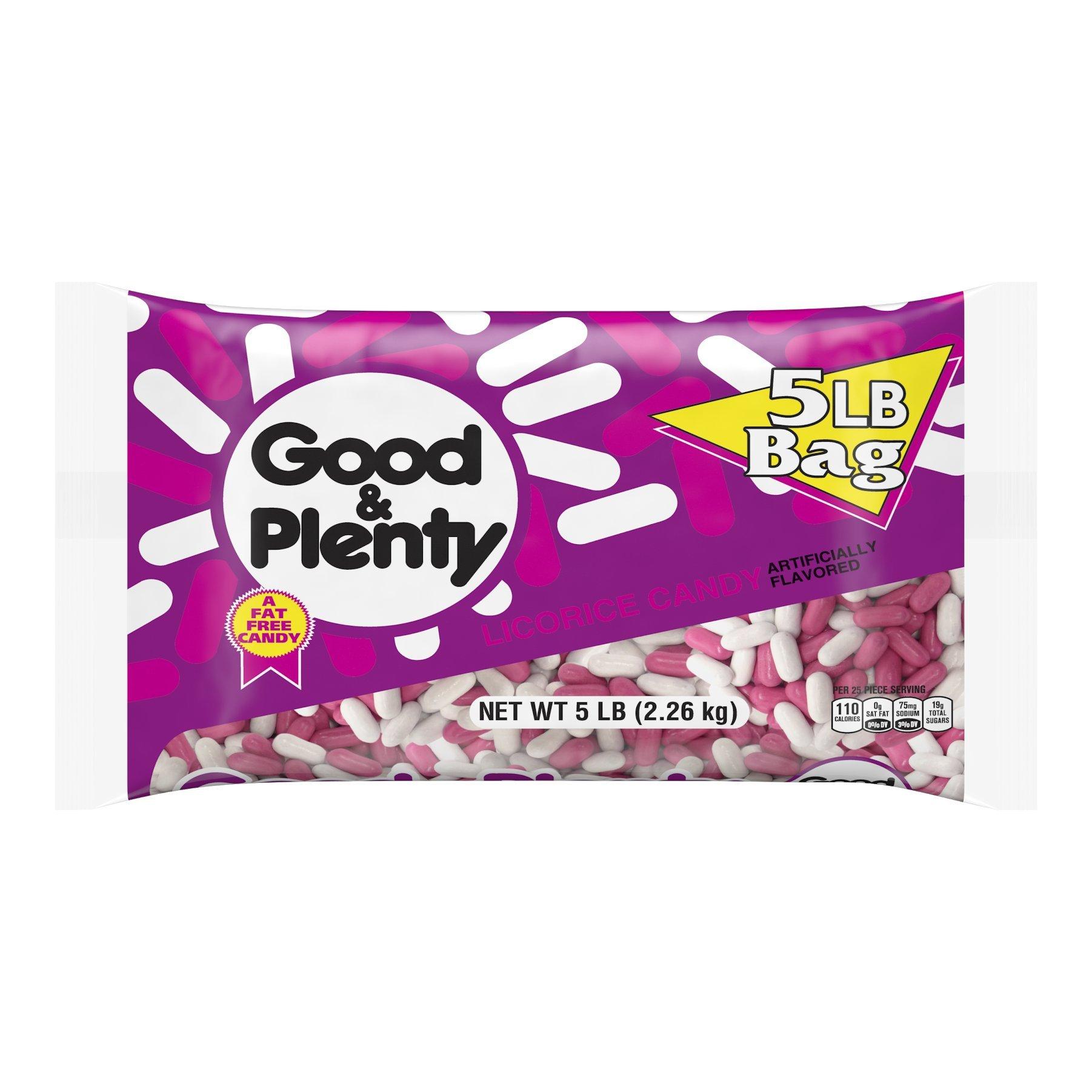 GOOD & PLENTY Licorice Candy, 5 Pound Bag