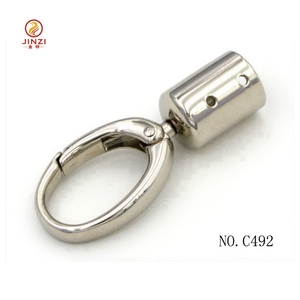 New hollow cylinder metal key ring clips swivel snap hook keychain gift key holder