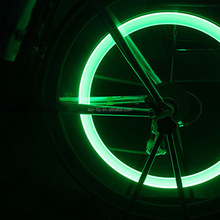 LED Neon Motorcycle Bike Bicycle Cycling Wheel Tyre Valve Cap Spoke Light