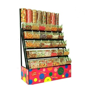 factory supply floor candy store equipment,candy display shelves,candy metal display stand