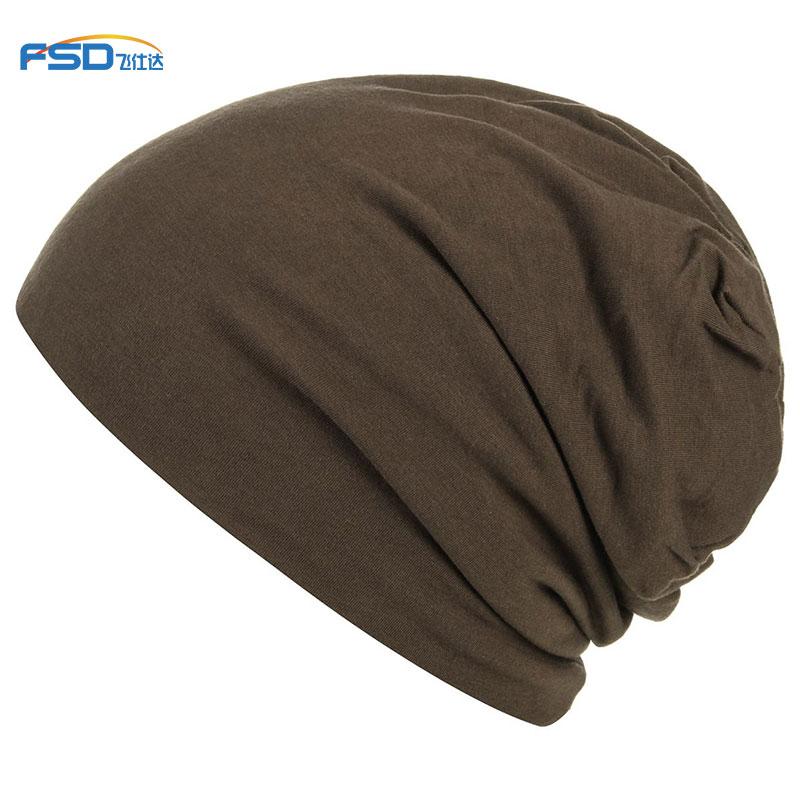 Custom jersey beanie cotton fabric hat Sleep Cap - Super Soft Knit Slouchy Beanie chemo cap bonnet
