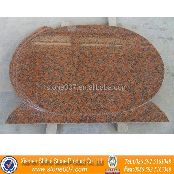 Timely Delivery Good Quality Maple Red Granite Headstone