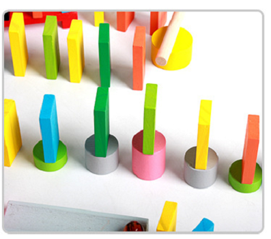 Wood educational toys acrylic domino for kids