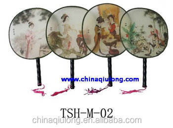 Fuzhou Newqiulong Chinese Antique Palace Silk Ladies Hand Fan