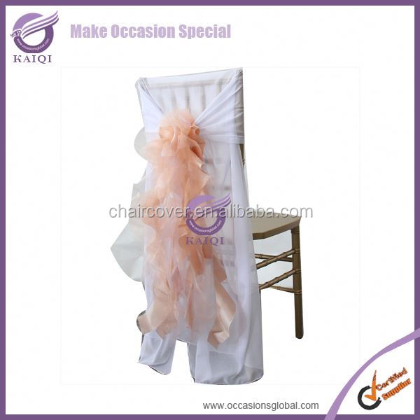 BS019 peach 2014 fancy sash and chair cover