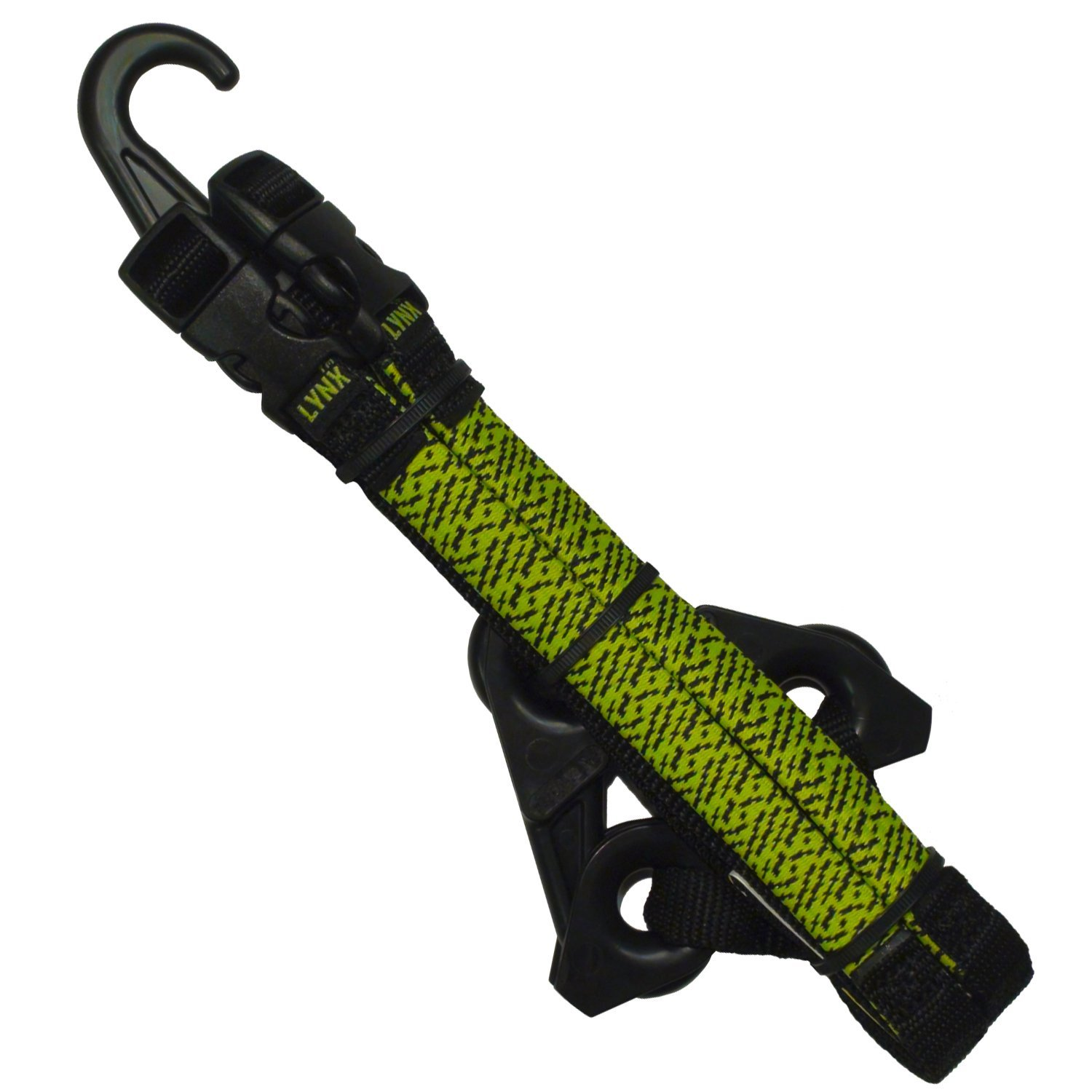 LYNX Hooks® Hi-Viz Green Adjustable, Interlocking Gear Straps